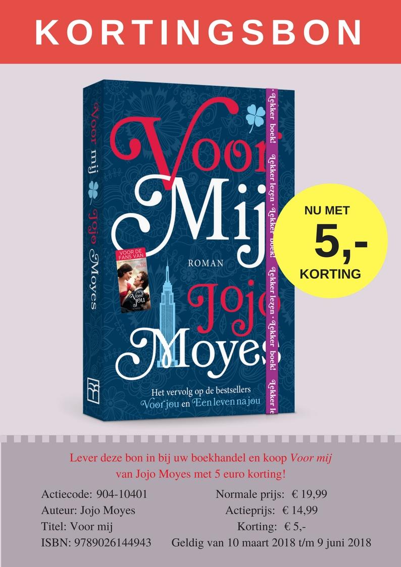Kortingsbon Jojo Moyes-Voor mij