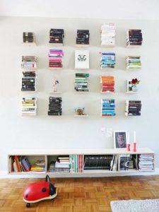 Zwevende boekenplankjes