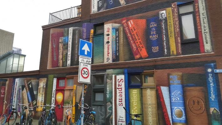 boeken op straat